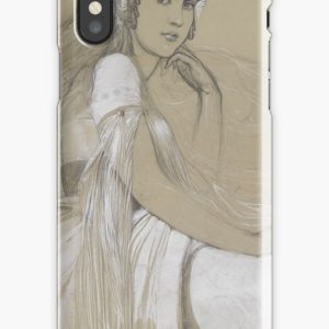 The artists daughter by Jaroslava Drawing iPhone Cases & Covers