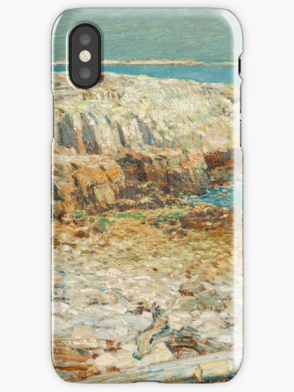 A North East Headland Oil Painting by Childe Hassam iPhone Cases & Covers