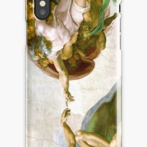 The Creation of Adam Painting by Michelangelo Sistine Chapel iPhone Cases & Covers