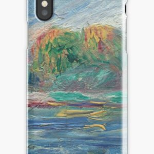 The Blue River Oil Painting by Auguste Renoir iPhone Cases & Covers