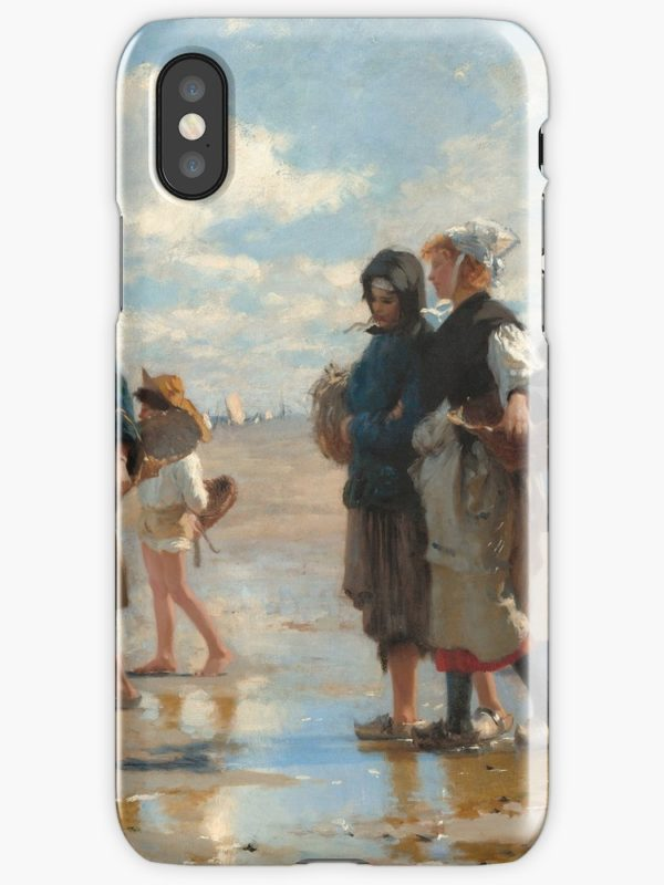 Setting Out to Fish Oil Painting by John Singer Sargent iPhone Cases & Covers