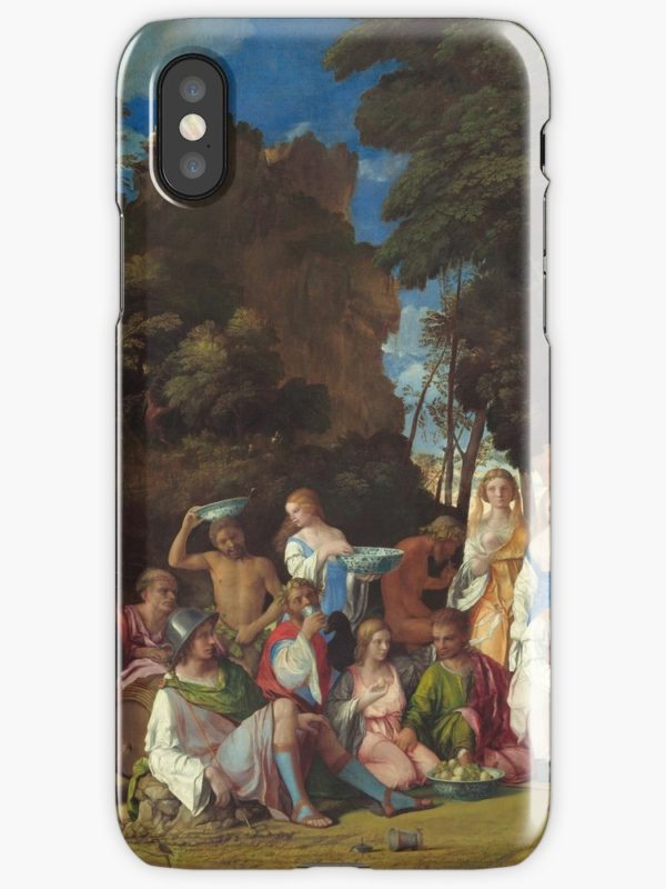 The Feast of the Gods Painting by Giovanni Bellini and Titian iPhone Cases & Covers