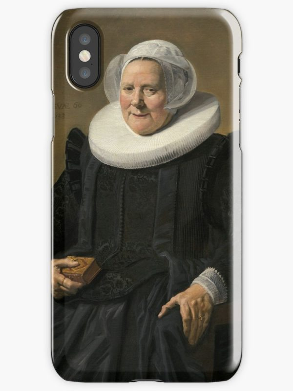 Portrait of an Elderly Oil Painting Lady by Frans Hals iPhone Cases & Covers