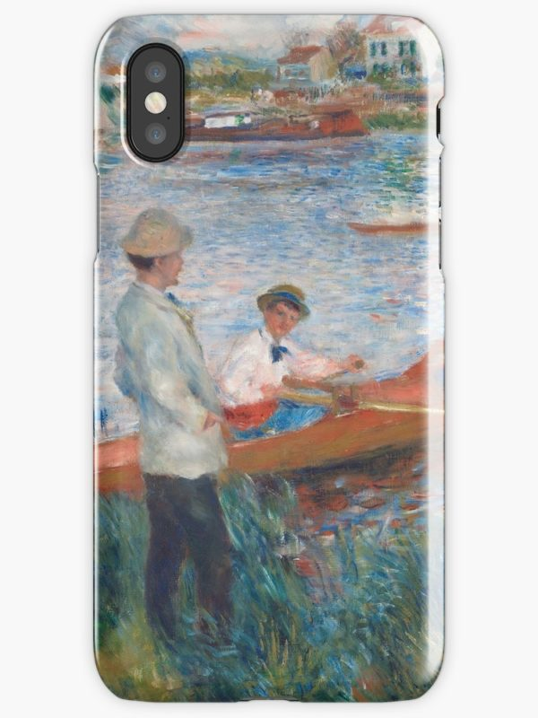 Oarsmen at Chatou Painting by Auguste Renoir iPhone Cases & Covers