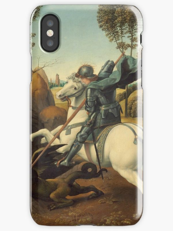Saint George and the Dragon Oil Painting By Raphael iPhone Cases & Covers