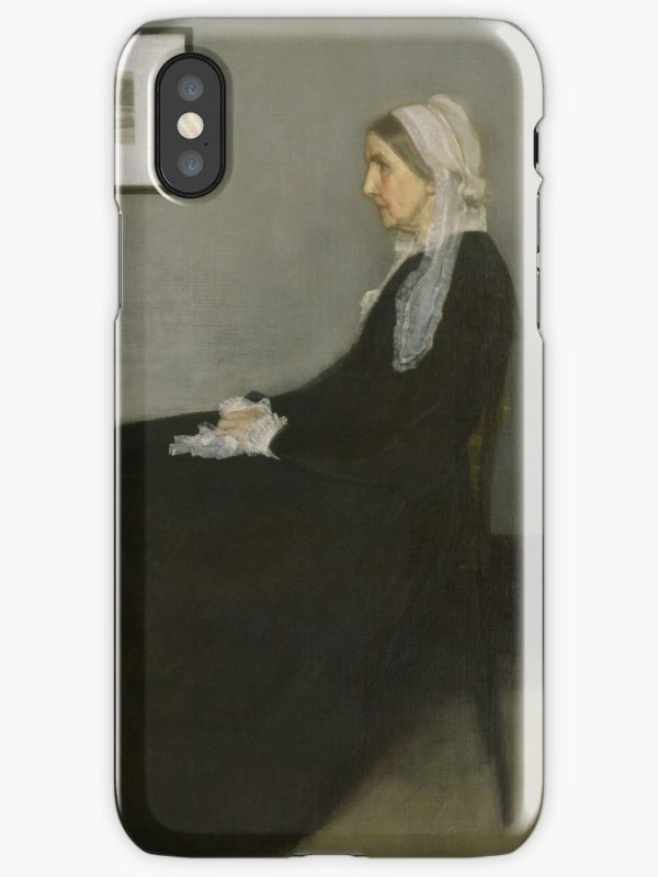 Whistlers Mother Oil Painting by James McNeill Whistler iPhone Cases & Covers