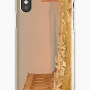 Ruins of the Parthenon Oil Painting by Sanford Robinson Gifford iPhone Cases & Covers