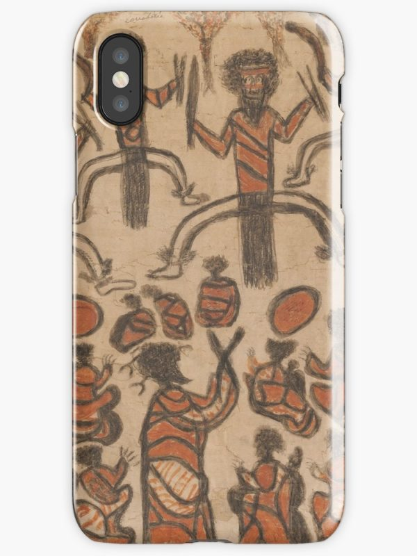 Wurundjeri People Charcoal Drawing by Australian William Barak iPhone Cases & Covers