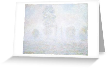 Morning Haze by Claude Monet Greeting Cards