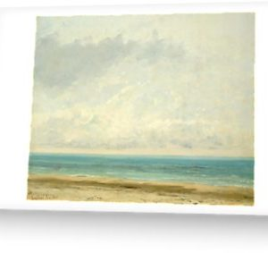 Calm Sea Oil Painting by Gustave Courbet Greeting Cards