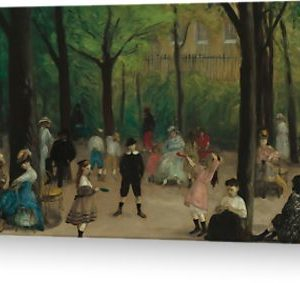 Luxembourg Gardens Oil Painting by William James Glackens Greeting Cards