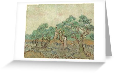 The Olive Orchard by Vincent van Gogh - Classic Art Greeting Cards