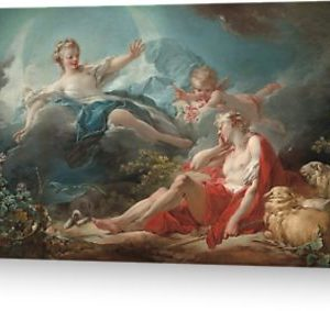 Diana and Endymion Oil Painting by Jean-Honoré Fragonard Greeting Cards