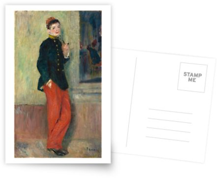 The Young Soldier oil Painting by Auguste Renoir Postcards