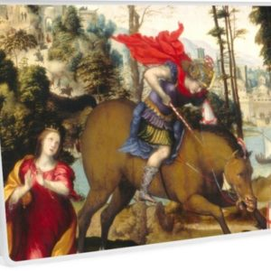 Saint George and the Dragon Oil Painting by Sodoma Laptop Skins