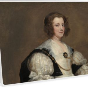 Lady with a Fan Oil Painting by Sir Anthony van Dyck Laptop Skins