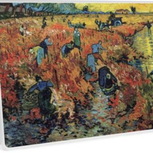 The Red Vineyards Oil Painting on Burlap by Vincent van Gogh Laptop Skins