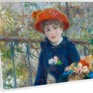 Two Sisters on the Terrace Oil Painting by Auguste Renoir Laptop Skins