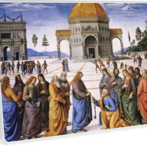 The Delivery of the Keys Painting by Perugino Sistine Chapel Laptop Skins