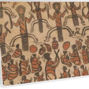 Wurundjeri People Charcoal Drawing by Australian William Barak Laptop Skins
