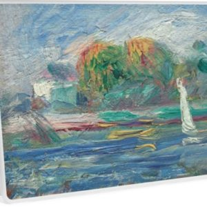 The Blue River Oil Painting by Auguste Renoir Laptop Skins