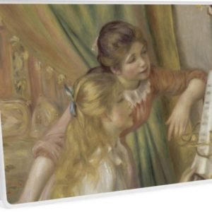 Young Girls at the Piano Oil Painting by Pierre Auguste Renoir Laptop Skins