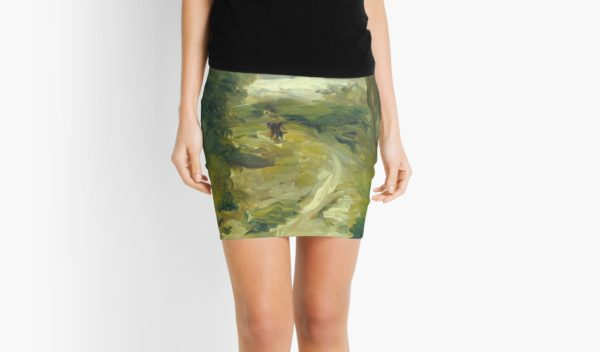 Landscape Between Storms Oil Painting by Auguste Renoir Mini Skirts