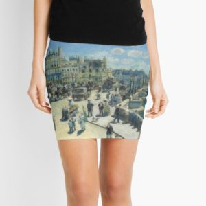 Pont Neuf Paris Painting by Auguste Renoir Mini Skirts