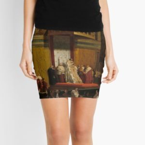 Pope Pius VII in the Sistine Chapel Oil Painting by Jean-Auguste-Dominique Ingres Mini Skirts