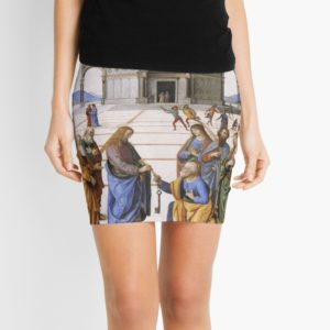 The Delivery of the Keys Painting by Perugino Sistine Chapel Mini Skirts