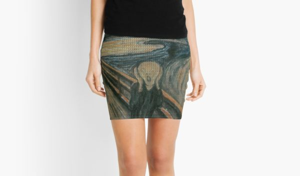 The Scream Lovingly Knitted by Granny E-Munch Mini Skirts