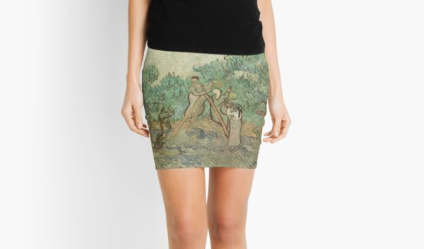The Olive Orchard by Vincent van Gogh - Classic Art Mini Skirts