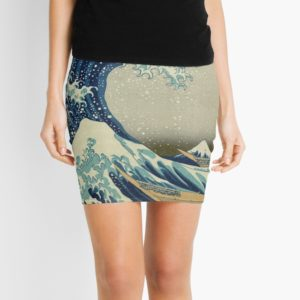 The Classic Japanese Great Wave off Kanagawa by Hokusai Mini Skirts