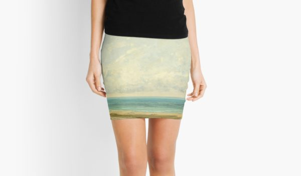 Calm Sea Oil Painting by Gustave Courbet Mini Skirts