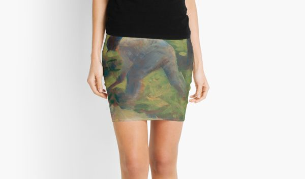 Peasant with a Hoe Oil Painting by Georges Seurat Mini Skirts