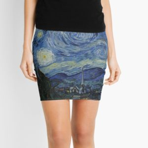 Starry Night Oil painting by Vincent van Gogh Mini Skirts