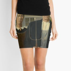 American Gothic Oil Painting by Grant Wood Mini Skirts