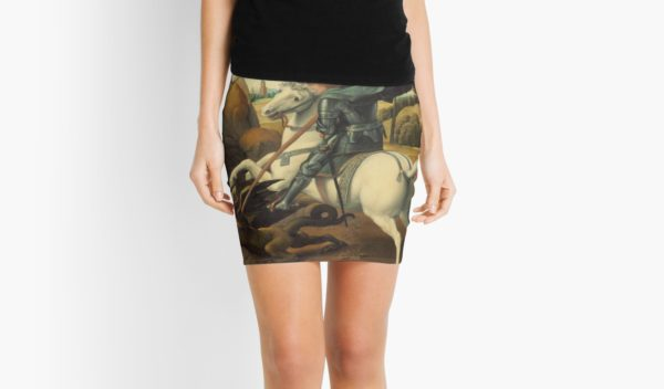 Saint George and the Dragon Oil Painting By Raphael Mini Skirts