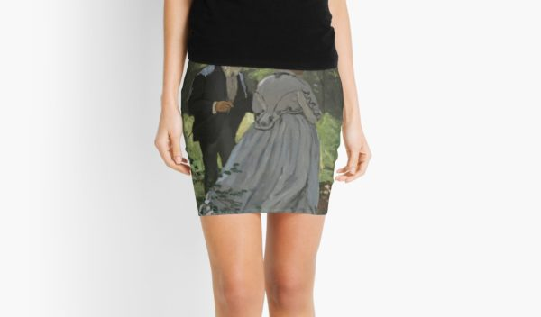Bazille and Camille Painting by Claude Monet Mini Skirts