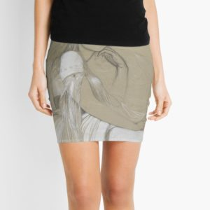 The artists daughter by Jaroslava Drawing Mini Skirts