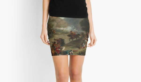 Arabs Skirmishing in the Mountains Oil Painting by Eugène Delacroix Mini Skirts