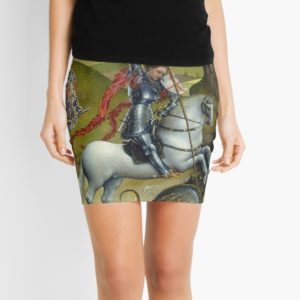 Saint George and the Dragon Oil Painting by Rogier van der Weyden Mini Skirts