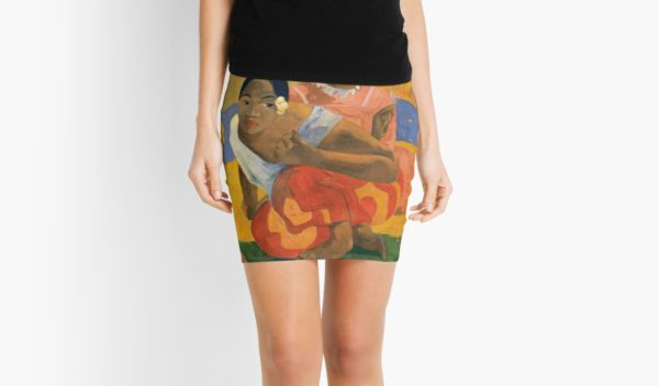 Affordable Art $300,000,000 When Will You Marry by Paul Gauguin Mini Skirts