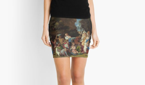 The Feast of the Gods Painting by Giovanni Bellini and Titian Mini Skirts