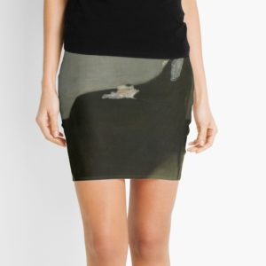 Whistlers Mother Oil Painting by James McNeill Whistler Mini Skirts