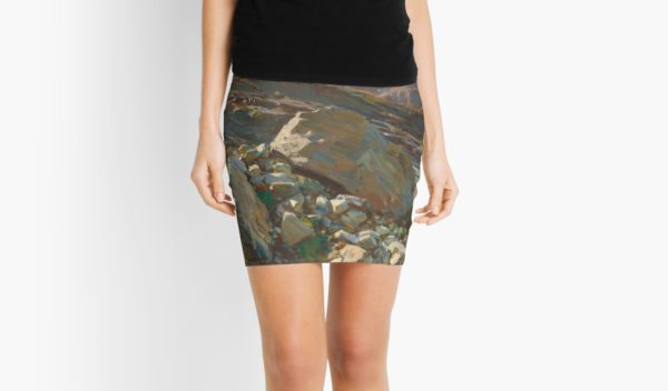 Simplon Pass Oil Painting by  John Singer Sargent Mini Skirts