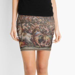 Classic Art The battle of Marciano in Val di Chiana By Giorgio Vasari Mini Skirts