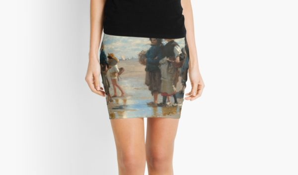 Setting Out to Fish Oil Painting by John Singer Sargent Mini Skirts