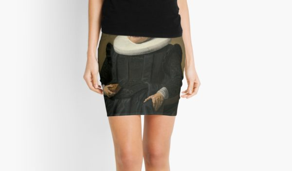 Portrait of an Elderly Oil Painting Lady by Frans Hals Mini Skirts