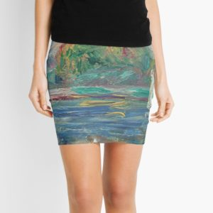 The Blue River Oil Painting by Auguste Renoir Mini Skirts